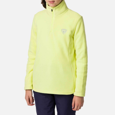Bluza copii GIRL 1/2 ZIP FLEECE Sunny lime1
