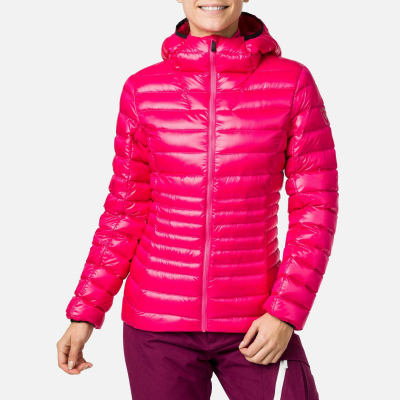 Jacheta dama W LIGHT DOWN HOOD Pink fushia0