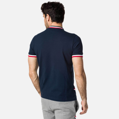Tricou barbati POLO 1/2 ZIP Dark Navy1