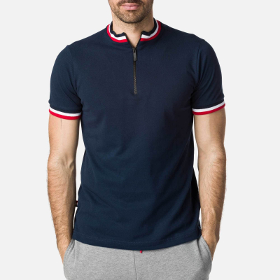 Tricou barbati POLO 1/2 ZIP Dark Navy0
