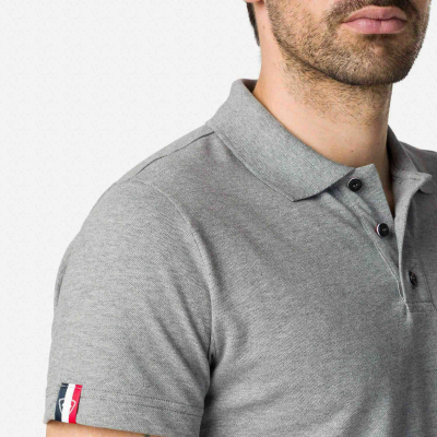 Tricou barbati ROOSTER CLASSIC POLO Heather grey3