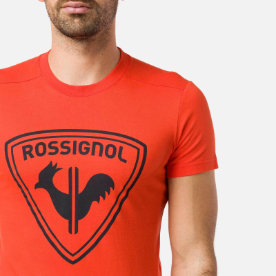 Tricou barbati ROSSIGNOL Lava orange2