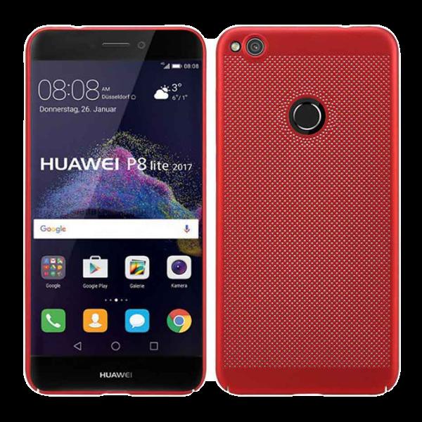 Husa Huawei P9 Lite 2017 Tpu Moale Perforat Rosu 0