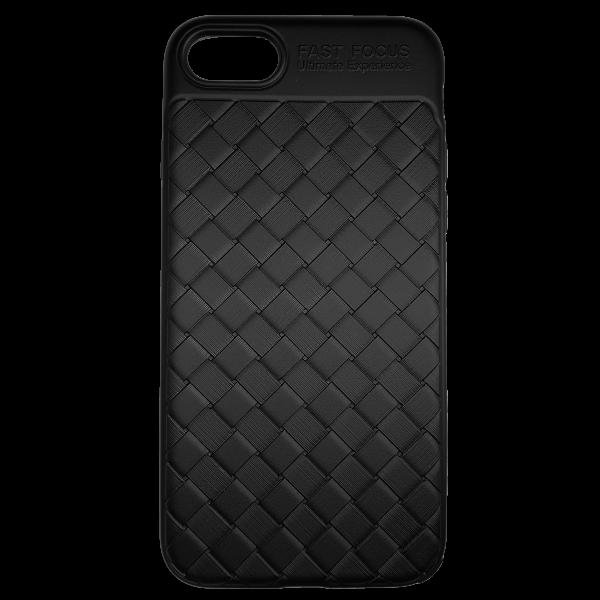 Husa iPhone 7  Efect 3D TPU Moale Negru 0