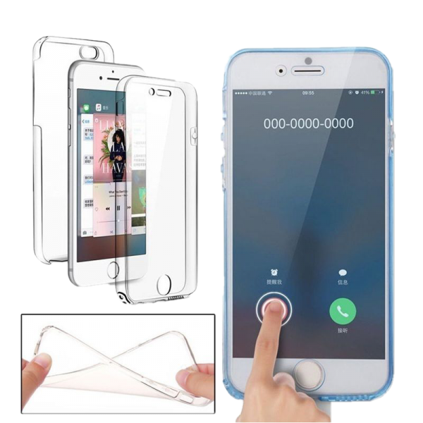 Husa 360 iPhone 7 plus 360 Silicon Transparent Fullcover 2