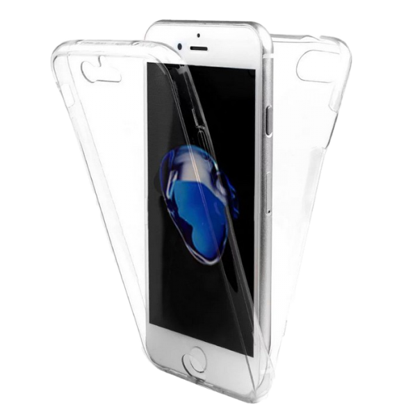 Husa 360 iPhone 7 plus 360 Silicon Transparent Fullcover 0
