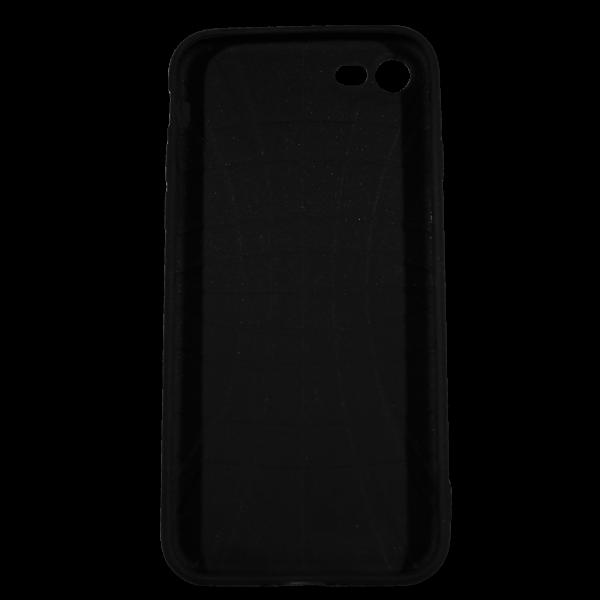 """Husa iPhone 7 TPU Negru Print Mesaj 3D """"Ai bani love story n-ai bani i'm sorry"""" 1"""