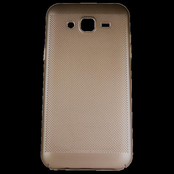 Husa Samsung Galaxy J3 2016 TPU Perforat Gold 0