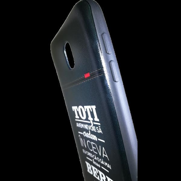 "Husa Samsung Galaxy  j5 2017 husa flippy 3d print mesaj ''toti avem nevoie sa credem in ceva!"" 2"