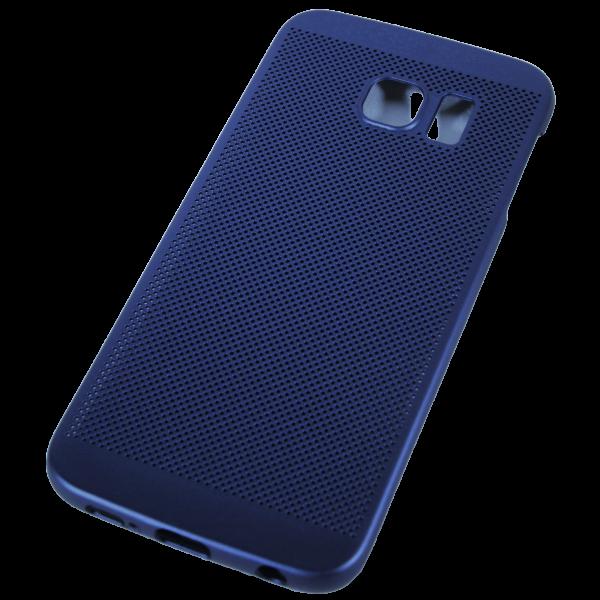 Husa Samsung Galaxy S6 EDGE TPU Perforat Bleumarin 2