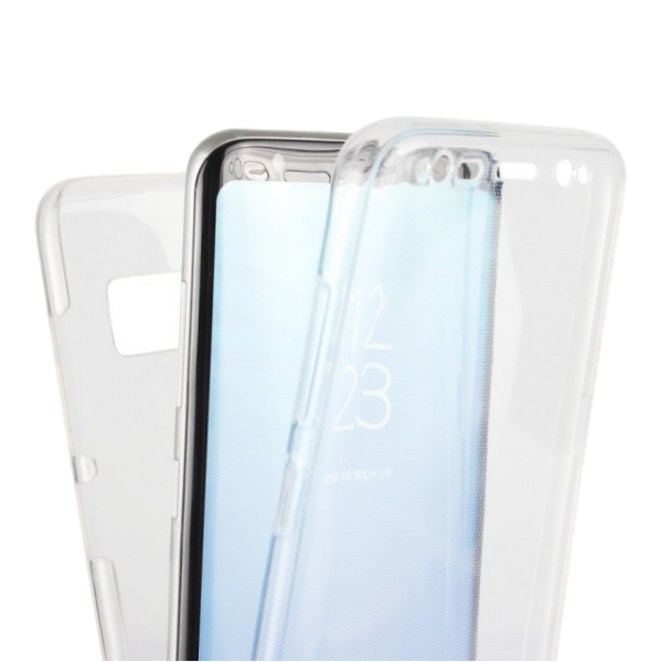 Husa Samsung Galaxy S8 Plus 360 Fullcover Silicon Transparent 1