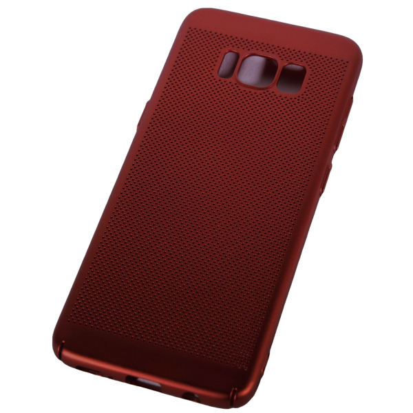 Husa Samsung Galaxy S8 TPU Perforat Rosu 1