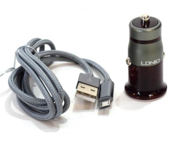 Incarcator Auto LDNIO C304Q Qualcomm Quick Charge 3.0 + Cablu Lightning Android 3