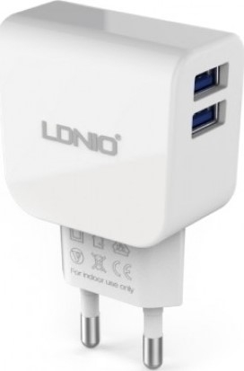 Incarcator Priza Double 2.1A Star LDNIO DL-AC56 + cablu Android 0