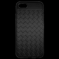 Husa iPhone 7  Efect 3D TPU Moale Negru0