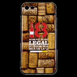 "Husa iPhone 8 TPU Negru Print Mesaj 3D ""18 acum pot sa fac legal ceea ce faceam la 13 ani ""0"