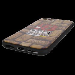 "Husa iPhone 8 TPU Negru Print Mesaj 3D ""18 acum pot sa fac legal ceea ce faceam la 13 ani ""1"