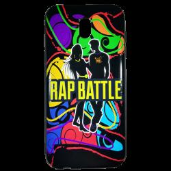 Husa Samsung Galaxy  j5 2017 husa flippy 3d print mesaj ''rap battle!0