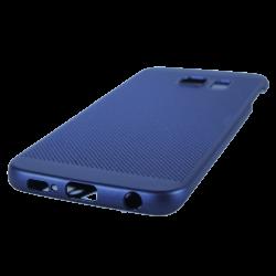 Husa Samsung Galaxy S6 EDGE TPU Perforat Bleumarin1
