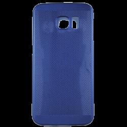 Husa Samsung Galaxy S6 EDGE TPU Perforat Bleumarin0