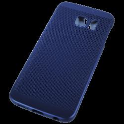 Husa Samsung Galaxy S6 EDGE TPU Perforat Bleumarin2