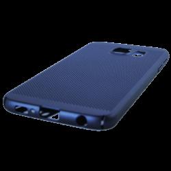 Husa Samsung Galaxy S6 TPU Perforat Bleumarin2