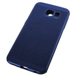 Husa Samsung Galaxy S6 TPU Perforat Bleumarin1
