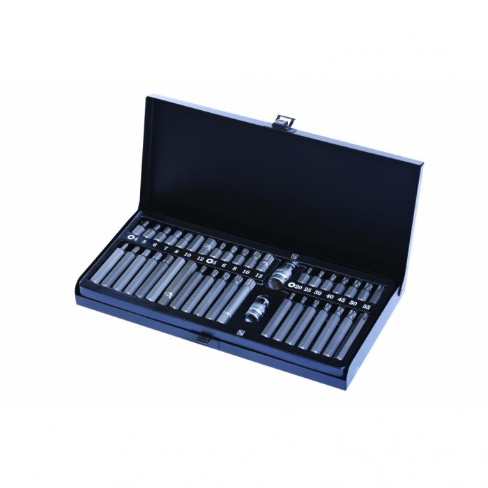 Set 40 biti mecanica S2, steel, CR-V Top Master 390171 [0]