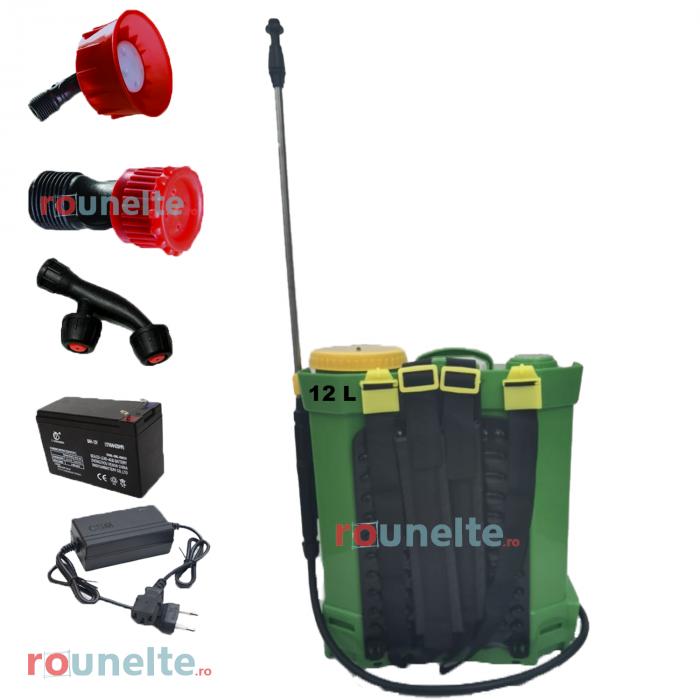 Pompa stropit electrica PROCRAFT 12 Litri, 5 Bar, reglaj presiune, vermorel cu baterie acumulator 12V [2]