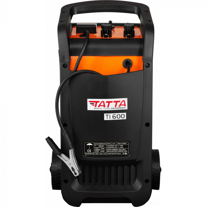 Robot de pornire auto Tatta TI600 Profesional, curent de incarcare max 50A, curent pornire 540A, putere 2.0 KW [1]