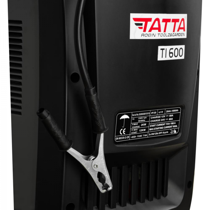 Robot de pornire auto Tatta TI600 Profesional, curent de incarcare max 50A, curent pornire 540A, putere 2.0 KW [4]