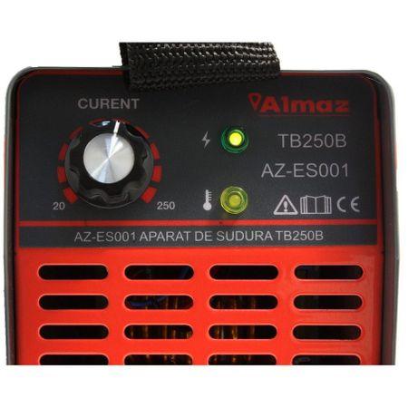 Aparat de sudura Invertor ALMAZ 250A, AZ-ES001, Electrod 1.6-4mm, accesorii incluse [3]