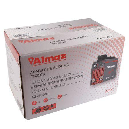Aparat de sudura Invertor ALMAZ 250A, AZ-ES001, Electrod 1.6-4mm, accesorii incluse [4]