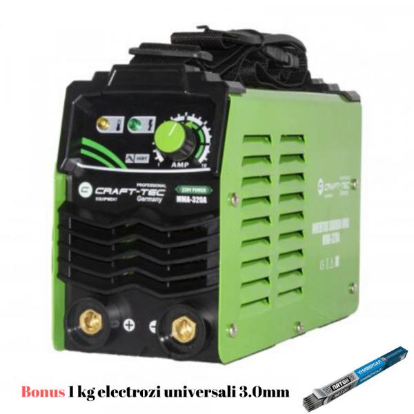 Aparat Sudura Invertor CRAFT-TEC MMA 320A, 320Ah, diametru electrod 1.6 - 4 mm+1 kg Electrozi universali [0]