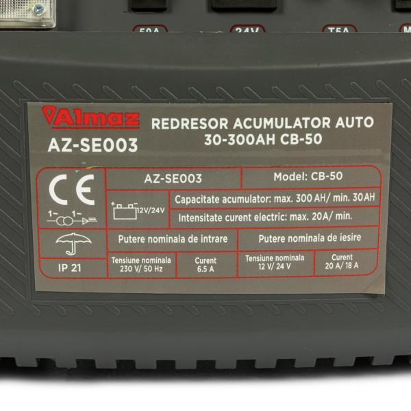 Redresor incarcare acumulator auto 30-300Ah CB-50 ALMAZ AZ-SE003 [5]