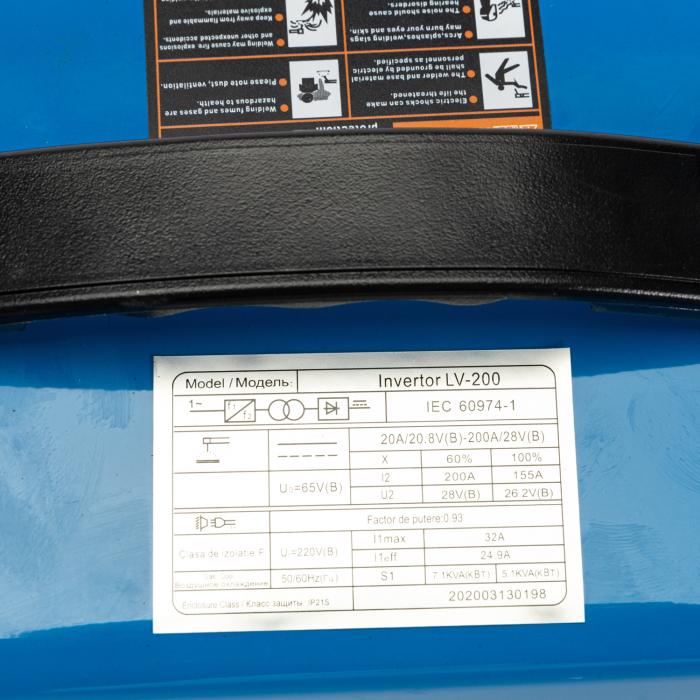 Aparat de sudura, Invertor Micul Fermier GF-1154, LV-200, 1.6-4 mm, 200Ah [4]