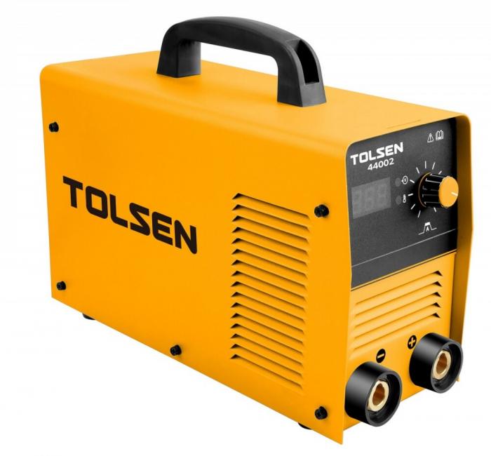 Aparat de sudura tip Invertor, Tolsen 44004, 200A, 10,8KVA , electrod 1.6 - 5.0 mm, afisaj electronic [0]