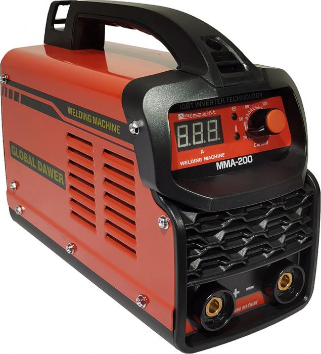 Aparat de Sudura tip Invertor, Global Dawer, MMA 200, electrozi 1.6 mm - 4 mm, 200 A 0