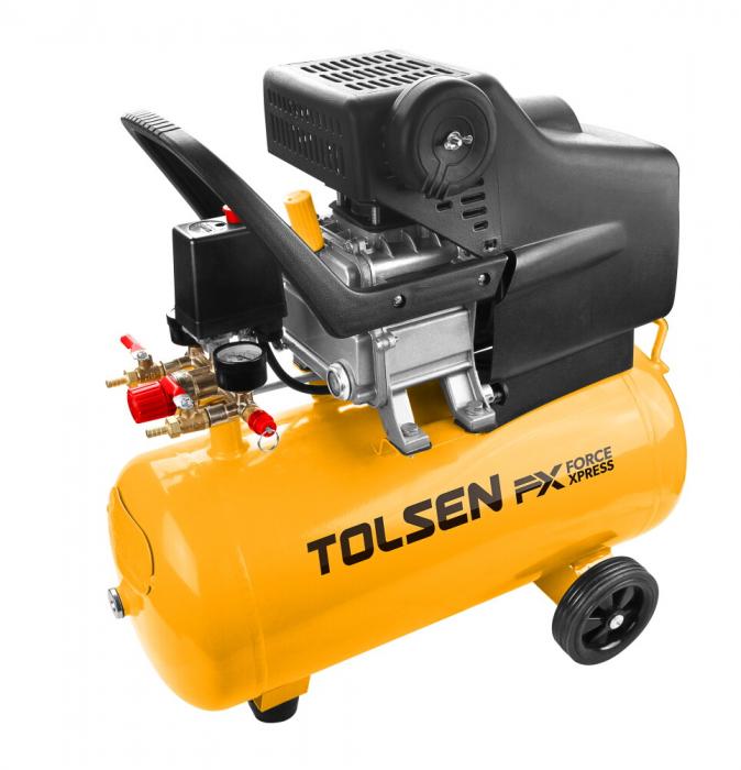 Compresor aer 24L, 8bar, 1500W, Tolsen 73114 [0]