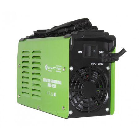 Aparat Sudura Invertor CRAFT-TEC MMA 320A, 320Ah, diametru electrod 1.6 - 4 mm+1 kg Electrozi universali [2]