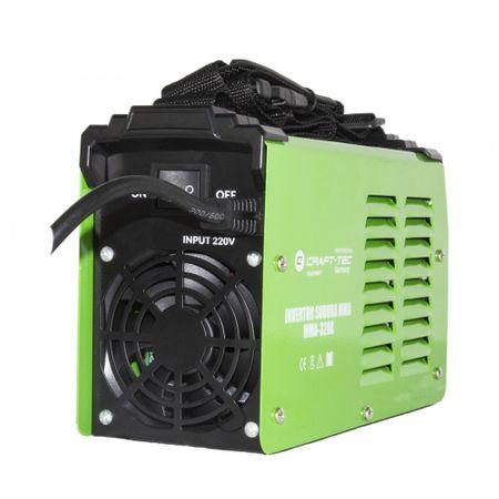 Aparat Sudura Invertor CRAFT-TEC MMA 320A, 320Ah, diametru electrod 1.6 - 4 mm+1 kg Electrozi universali [3]