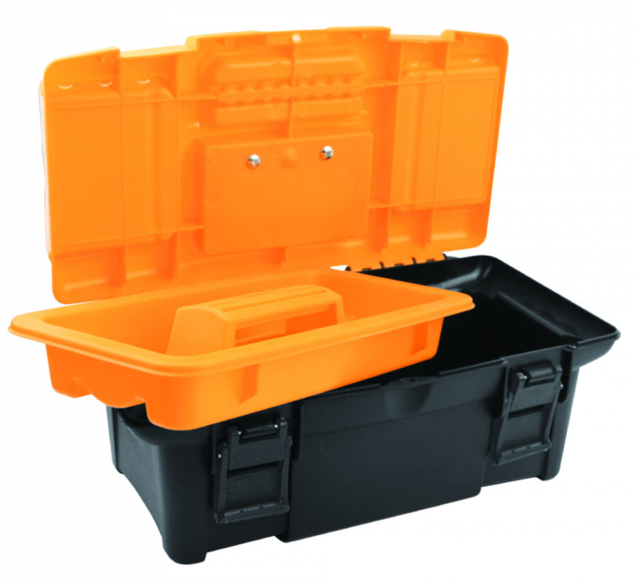 Cutie din material plastic pentru scule si unelte, 340X180X130 MM, Tolsen 80190 [1]