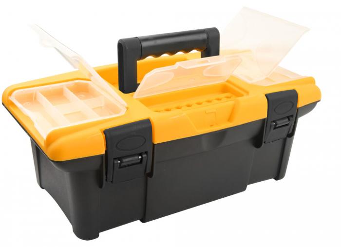 Cutie din material plastic pentru scule si unelte, 340X180X130 MM, Tolsen 80190 [0]