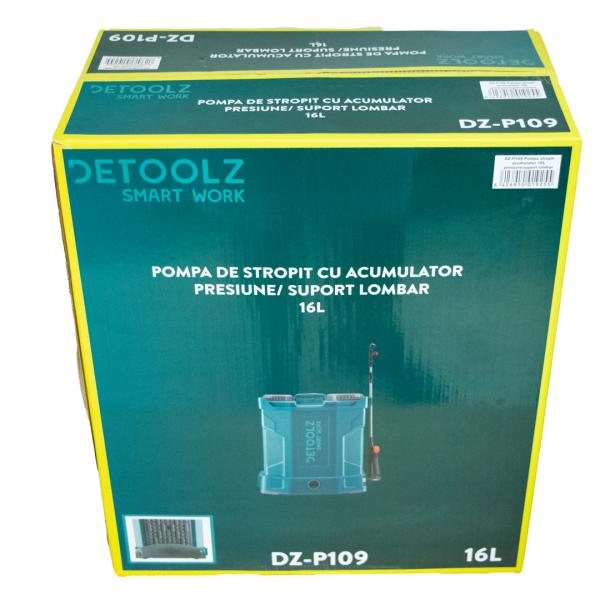 Pompa stropit acumulator, vermorel 16L, 12 V, 6 bari, 8 A, Detoolz (DZ-P109) [8]