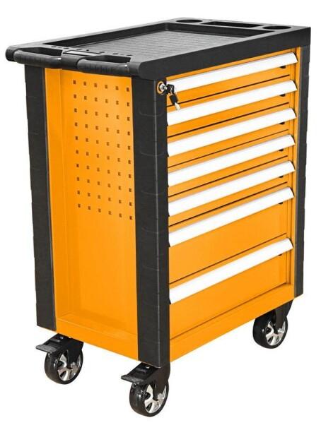 Dulap metalic pe roti pentru scule si unelte, 958X766X465 MM, 7 sertare, Tolsen 80307 [0]