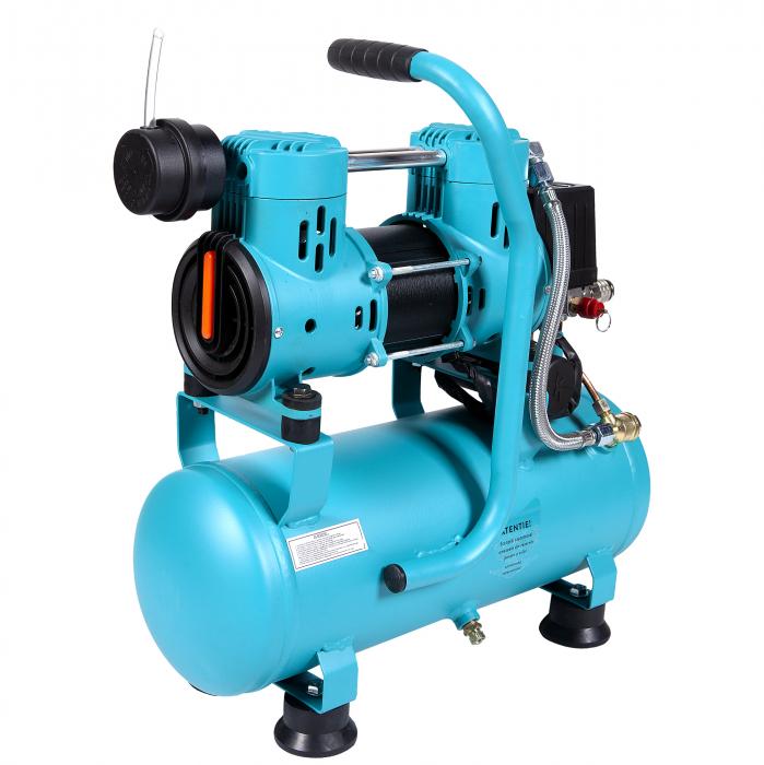 Compresor fara ulei 880W, capacitate 9L, 80L/min, Detoolz DZ-C265 [2]