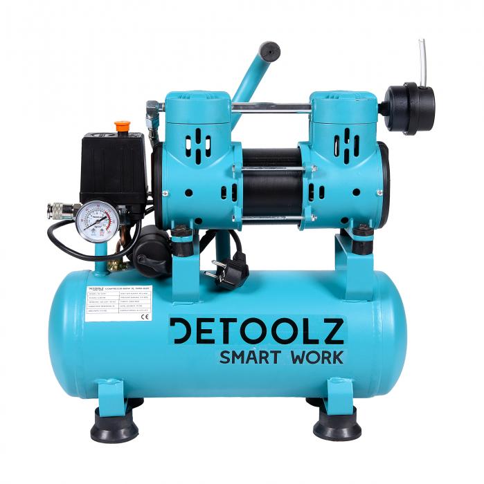 Compresor fara ulei 880W, capacitate 9L, 80L/min, Detoolz DZ-C265 [1]