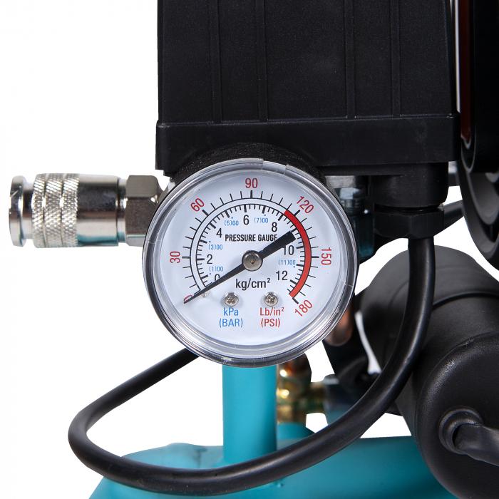Compresor fara ulei 880W, capacitate 9L, 80L/min, Detoolz DZ-C265 [7]