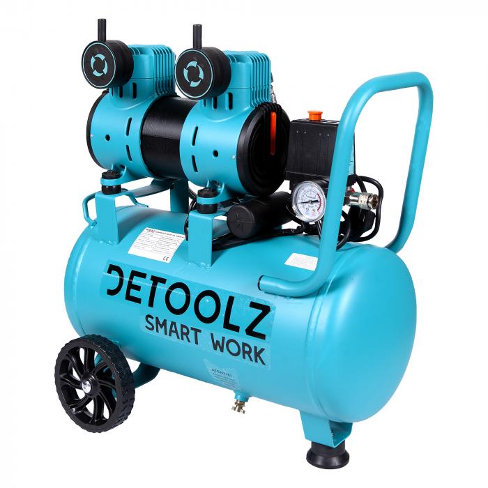 Compresor fara ulei 1500W, capacitate 30L, 135L/min , Detoolz DZ-C266 [0]