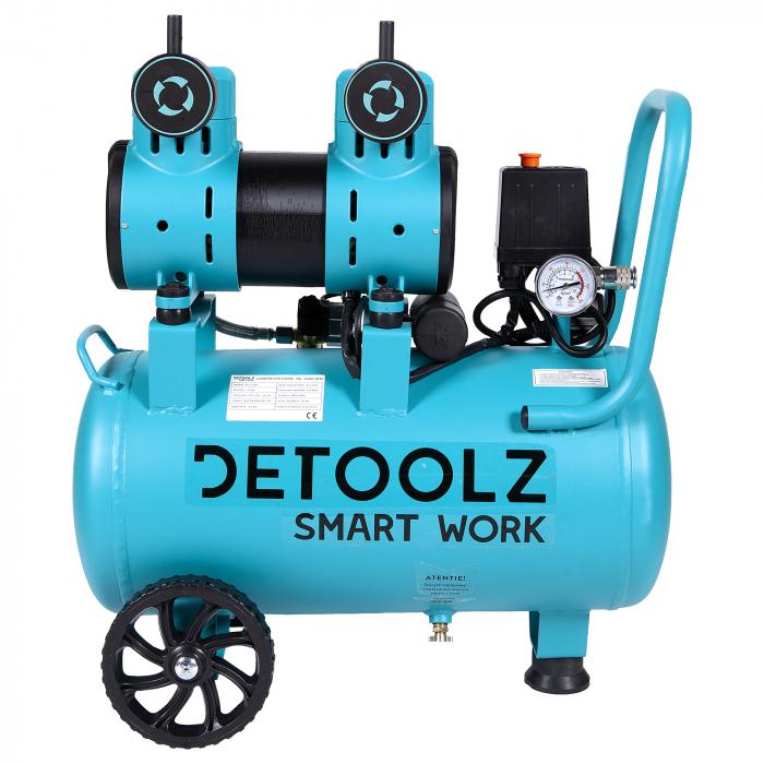 Compresor fara ulei 1500W, capacitate 30L, 135L/min , Detoolz DZ-C266 [2]